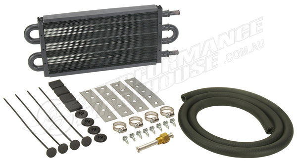 DERALE 13 INCH COPPER/ALUMINIUM TRANSMISSION OIL COOLER KIT 13101 HOLDEN FORD