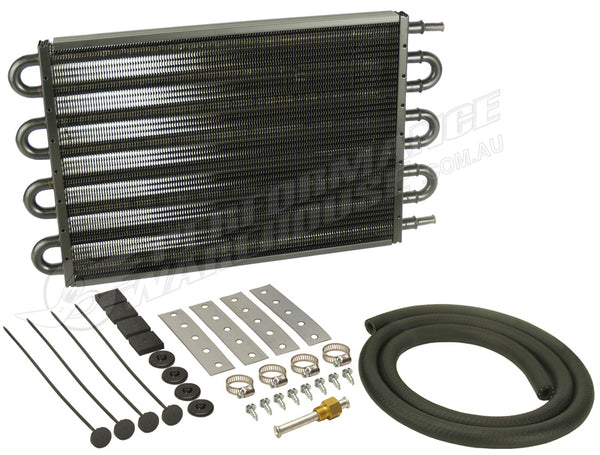 "DERALE 17"" COPPER/ALUMINIUM TRANS OIL COOLER KIT LARGE 13104 HOLDEN FORD"