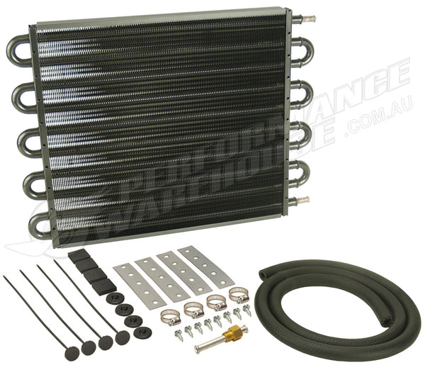 DERALE 10 PASS 17 INCH SERIES 7000 TRANSMISSION OIL COOLER KIT 13205