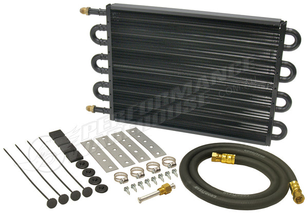 "DERALE 18"" COPPER/ALUMINIUM TRANS OIL COOLER KIT HEAVY DUTY LARGE -6AN 13304"