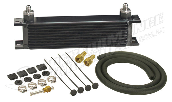 DERALE 10 ROW SERIES 10000 STACK PLATE TRANSMISSION COOLER KIT 13401
