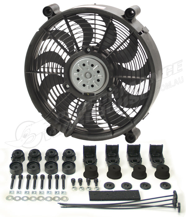 "DERALE 17"" HIGH OUTPUT SINGLE RAD PUSHER/PULLER FAN 16217"