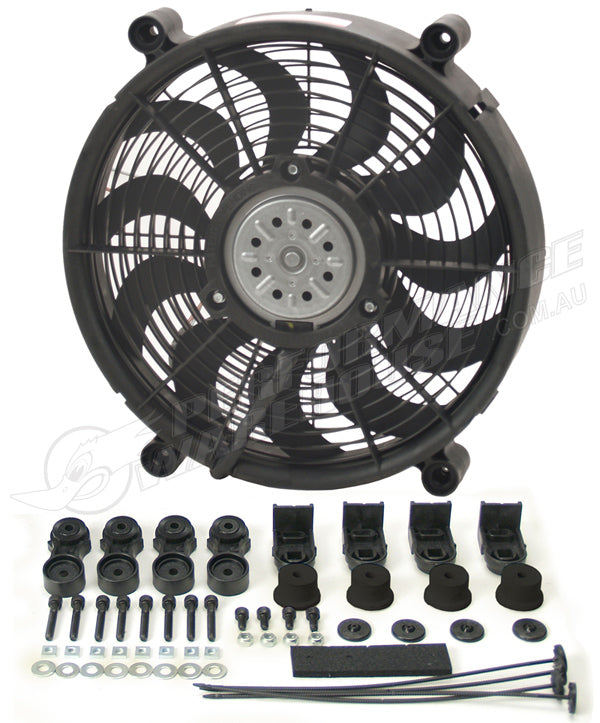 "DERALE 14"" HIGH OUTPUT SINGLE RAD PUSHER/PULLER FAN 16214"