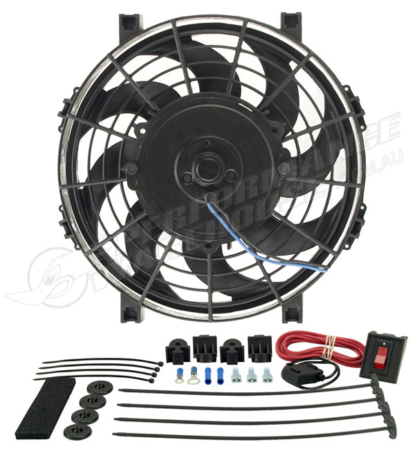 "DERALE 9"" TORNADO ELECTRIC PULLER FAN WITH PREMIUM MOUNTING KIT 16509"