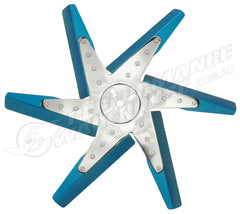 "DERALE 18"" HIGH PERFORMANCE ALUMINIUM FLEX FAN BLUE BLADE WITH CHROME HUB 19518"