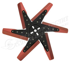 "DERALE 17"" HIGH PERFORMANCE ALUMINIUM FLEX FAN RED BLADE WITH BLACK HUB 19817"