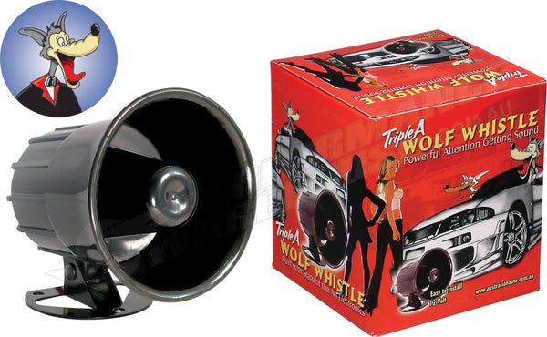 WOLF WHISTLE ELECTRONIC CAR HORN 12 VOLT BIKE TRUCK NOVELTY FUN