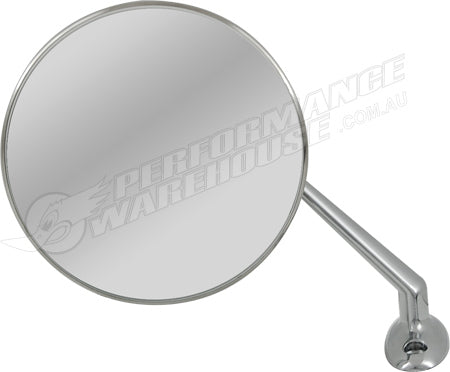 WING MIRROR UPDATED LUCAS STYLE STAINLESS STEEL FITS LH & RH SIDE SOLD SINGLY