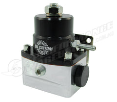 CAL CUSTOM ALUMINIUM EFI FUEL PRESSURE REGULATOR BLACK & SILVER