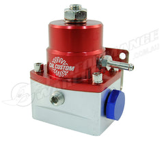CAL CUSTOM ALUMINIUM EFI FUEL PRESSURE REGULATOR RED & SILVER