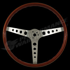 "15"" WALNUT WOOD RIM STEERING WHEEL FORD MUSTANG SHELBY COBRA GT350 GT500"