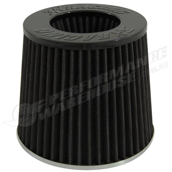 3A RACING POD AIR FILTER BLACK TOP BLACK ELEMENT 76mm NECK