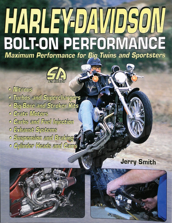 MOTORCYCLE BOOK HARLEY DAVIDSON BOLT ON PERFORMANCE SA DESIGN J SMITH