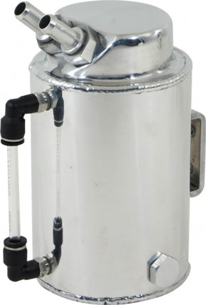 CAL CUSTOM 2 LITRE ROUND ALUMINIUM OIL CATCH TANK
