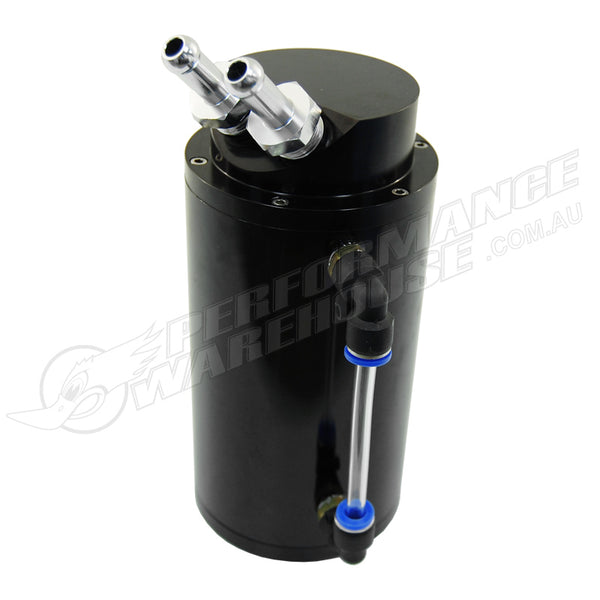 0.75 LITRE ROUND BLACK ALUMINIUM OIL CATCH TANK