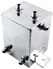 CAL CUSTOM 2 LITRE RECTANGULAR SURGE TANK -8AN POLISHED ALUMINIUM