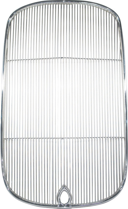 CAL CUSTOM FORD MODEL B 1932 RADIATOR GRILLE INSERT WITH CRANK HOLE POLISHED STAINLESS STEEL