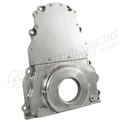 GM LS TIMING COVER W/O CAM SENSOR HOLE - POLISHED ALUMINIUM