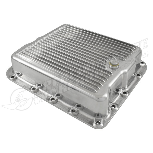 TH700 AUTOMATIC TRANSMISSION PAN POLISHED FINNED ALUMINIUM