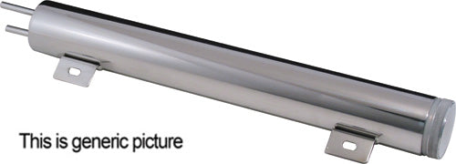"CAL CUSTOM 2"" X 10"" RADIATOR OVERFLOW TANK POLISHED STAINLESS STEEL"
