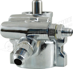 CAL CUSTOM CHROME POWER STEERING PUMP GM TYPE 2 (SAGINAW TC SERIES) UNIVERSAL