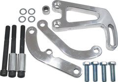 SBC LONG POWER STEERING BRACKET SET POLISHED
