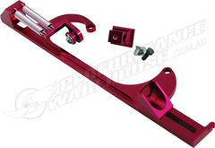 CAL CUSTOM RED BILLET ALUMINIUM THROTTLE CABLE BRACKET HOLLEY 4150 / 4160 CARB