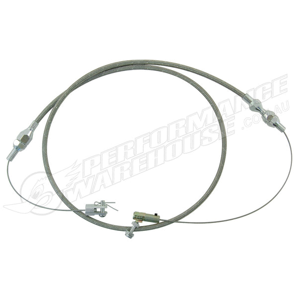 36 INCH THROTTLE CABLE BRAIDED STAINLESS STEEL HOUSING