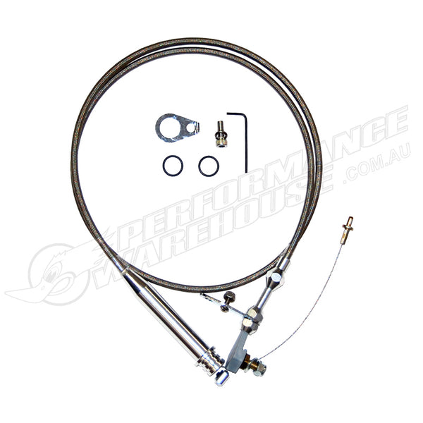 4L60 BRAIDED STAINLESS STEEL FLEXIBLE KICKDOWN CABLE KIT
