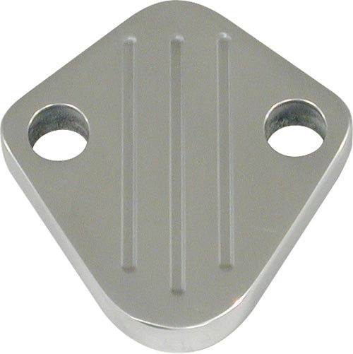 CAL CUSTOM HOLDEN 186 202 FUEL PUMP BLOCK OFF PLATE POLISHED ALUMINIUM