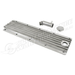 GM LS2 LS3 LS7 LSX ENGINE VALLEY COVER POLISHED FINNED ALUMINIUM