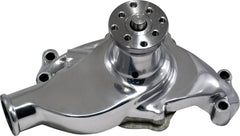 CAL CUSTOM SMALL BLOCK CHEV SHORT WATER PUMP CHROME ALUMINIUM