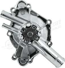CAL CUSTOM SMALL BLOCK CHRYSLER / DODGE / MOPAR WATER PUMP CHROME ALUMINIUM, 318 340 360