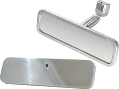 CAL CUSTOM RECTANGULAR REAR VIEW INTERIOR MIRROR SMOOTH DESIGN POLISHED ALUMINIUM