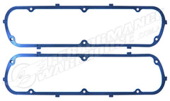 CAL CUSTOM VALVE COVER GASKETS SUIT FORD SB BLUE RUBBER STEEL CORE
