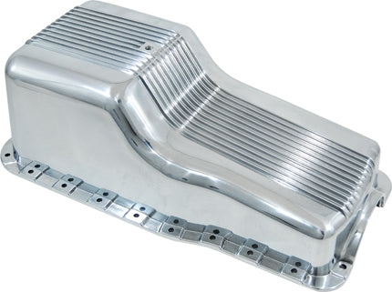 SB FORD WINDSOR POLISHED FINNED ALUMINIUM OIL PAN SBF 289 302