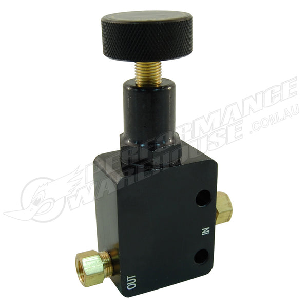 CAL CUSTOM ADJUSTABLE ALUMINIUM BRAKE PROPORTIONING VALVE W/ALUMINIUM KNOB