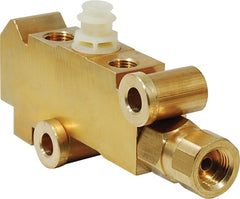 CAL CUSTOM BRASS BRAKE PROPORTIONING VALVE, GM STYLE, SUIT DISC/DRUM