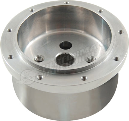 CAL CUSTOM 9 HOLE POLISHED STEERING WHEEL ADAPTOR, SUITS HOLDEN HQ-WB COMMODORE VB-VL TORANA LJ-LH-LX-UC