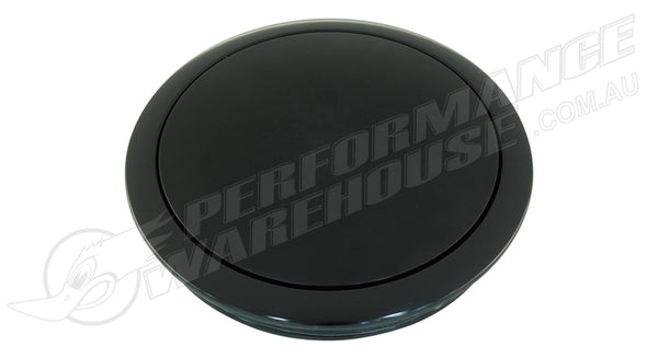 CAL CUSTOM BLACK ANODISED ALUMINIUM SMALL SMOOTH STYLE HORN BUTTON SUITS 9 BOLT STEERING WHEELS