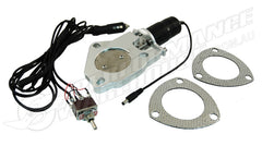 "2-1/2"" ELECTRIC EXHAUST CUT-OUT MOTOR WITH SWITCH CHEV FORD HOLDEN"