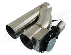 "STAINLESS STEEL 3"" ELECTRIC EXHAUST CUT-OUT WITH REMOTE - COMPACT DESIGN"