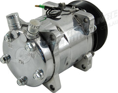 SANDEN 508 STYLE A/C COMPRESSOR POLISHED HOUSING, SERPENTINE PULLEY