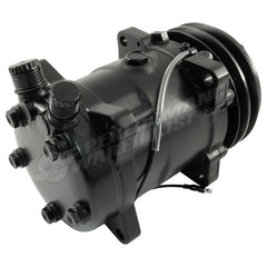 SANDEN 508 STYLE A/C COMPRESSOR BLACK HOUSING, V-BELT PULLEY