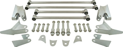 CAL CUSTOM 1932 FORD / UNIVERSAL TRIANGULATED 4 LINK / 4 BAR REAR END KIT, MILD STEEL