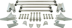 CAL CUSTOM 1932 FORD / UNIVERSAL TRIANGULATED 4 LINK / 4 BAR REAR END KIT, STAINLESS STEEL