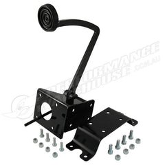 CAL CUSTOM UNIVERSAL FRAME MOUNT BRAKE PEDAL BRACKET SUIT GM BOOSTER - BLACK
