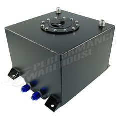 CAL CUSTOM 20 LITRE / 5 GALLON FUEL CELL BLACK POWDER COATED ALUMINIUM