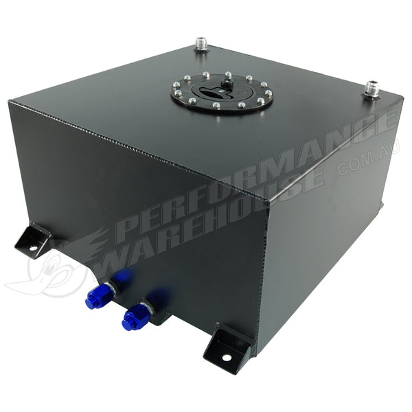 CAL CUSTOM 40 LITRE / 10 GALLON FUEL CELL BLACK POWDER COATED ALUMINIUM