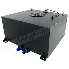 CAL CUSTOM 60 LITRE / 15 GALLON FUEL CELL BLACK POWDER COATED ALUMINIUM WITH SENDER